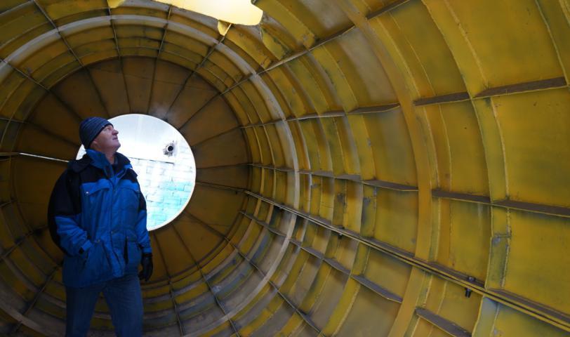 Кессон для ремонтных работ на подводных переходах трубопроводов